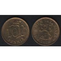 Финляндия km46 10 пенни 1980 год (K) (f31)*