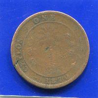 Цейлон , Шри Ланка , 1 цент 1870 , Victoria