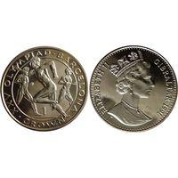 """Гибралтар 1 крона 1991г. """"XXV летние Олимпийские игры в Барселоне / Бегуны"""""""