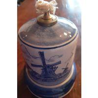 Лампа масляная. Керамика. Голландия--Delft.