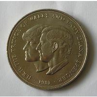 Великобритания Крона 1981 Диана и Чарльз (27)