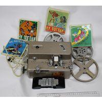 Кинопроектор 8 П-1. В родном кофре,с пленками и бобинами. Рабочий.