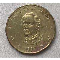 Доминиканская Республика 1 песо 1991 г.