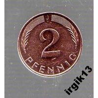 2 пфенинга 1991 года. ФРГ