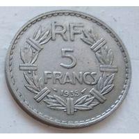 Франция 5 франков, 1935 4-14-22