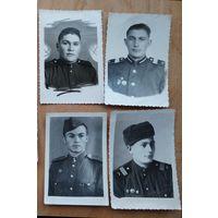 Четыре фото солдат 1950-х. 5.5х8 см.