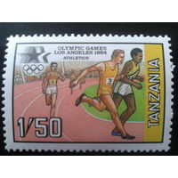 Танзания 1984 Олимпиада в Лос-Анжелесе