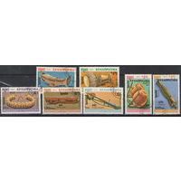 Кампучия Музыкальные инструменты 1984 год полная гашеная серия из 7-ми марок