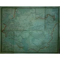 Карта железных дорог СССР, 1965г