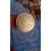 323# 20 сантимов 1996 .франция