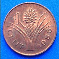 6603:  1 цент 1986 Свазиленд