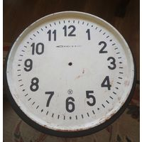 Циферблат от вокзальных часов СССР, Стрела, металл, целый, диаметр 44 см.