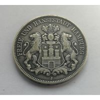 Германия (Гамбург), 5 марок 1913 год. (J)