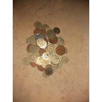 Сборный лот монет 78 шт. С 1 рубля