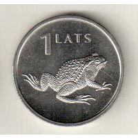 Латвия 1 лат 2010 Лягушка