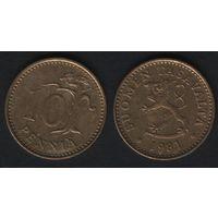 Финляндия km46 10 пенни 1981 год (K) (f31)*