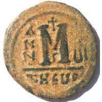 ВИЗАНТИЯ. МАВРИКИЙ ТИБЕРИЙ (582-602 г.). АНТИОХИЯ. 588 г. АЕ ФОЛЛИС.