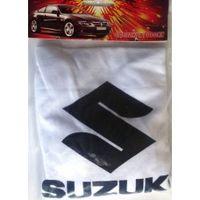 Чехлы на подголовники с логотипом Suzuki 2шт