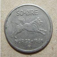 Норвегия 50 эре 1969