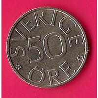 37-35 Швеция, 50 эре 1990 г.