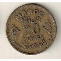 Марокко 20 франк 1952 2