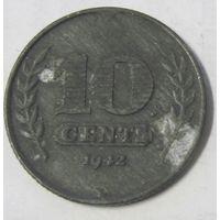 Нидерланды 10 центов 1942, цинк