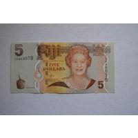 Фиджи 5 долларов образца 2011 года UNC