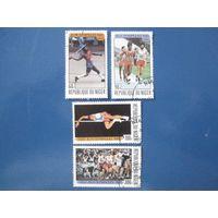 Олимпийские игры в Москве 1980 (Нигер) 4 марки ПОЛНАЯ СЕРИЯ