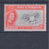 [630] Британские колонии о.Вознесения 1956. Морская фауна.Краб.