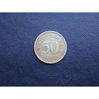 50 санти 1936. Эстония. С 1 рубля