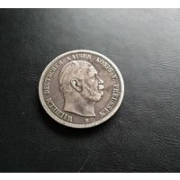 5 марок 1876 Пруссия Вильгельм l