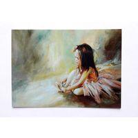 Морозова Инесса.   Маленькая балеринка.  Дети. Балет. Живопись.  Современная. Чистая.