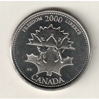 Канада 25 цент 2000 Свобода