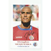Douglas Sequeira(Коста-Рика). Фотография с живым автографом.