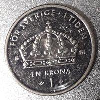 Швеция, 1 крона, 2008 год, медь-никель