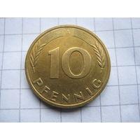 ГЕРМАНИЯ  10 ПФЕННИГОВ 1992 ГОД  А