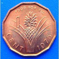 6604:  1 цент 1975 Свазиленд