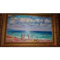 """Картина """"У черного моря"""". В. Андросов. Масло, холст, 1990 г."""
