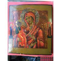 Икона Божией Матери Троеручица.19 Век! Без МНЦ!