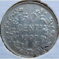 8. Бельгия 50 центов 1909 год, серебро
