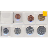 Южно Африканская Республика комплект монет (7 шт.) 1970-1988гг.