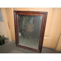 Зеркало старинное в деревянной раме 40-50-е г