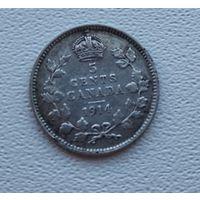 Канада 5 центов, 1914  7-6-47