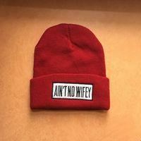 Новая шапка бини Ain't No Wifey (шерсть)