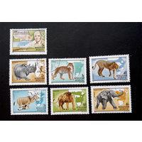 Венгрия 1981 г. Фауна Африки. 100-летие со дня рождения Калмана Киттенберга. полная серия из 7 марок #0030-Ф1