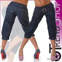 Стильные джинсовые бриджи Revers, р.42 (36/S) летние, тонкий джинс