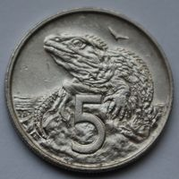 Новая Зеландия, 5 центов 1988 г