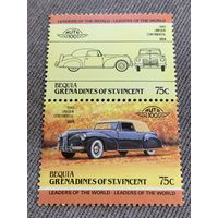 Бекия. Сент-Винсент и Гренадины. Автомобили мира. Lincoln Continental 1940. Марка из серии