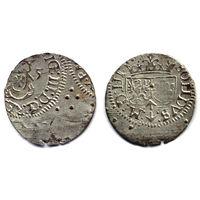 Шеляг 1615, Сигизмунд III Ваза, Вильно. Ав. - брак чеканки, виден аверс другой монеты. Штемпельный блеск, коллекционное состояние