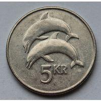 Исландия 5 крон, 1999 г.